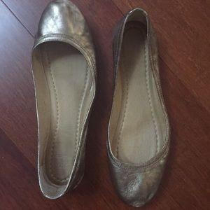 Frye Carson Ballet Metallic Bronze